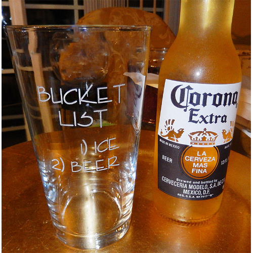 Bucket List Novelty Pint Glasses (set of 4)
