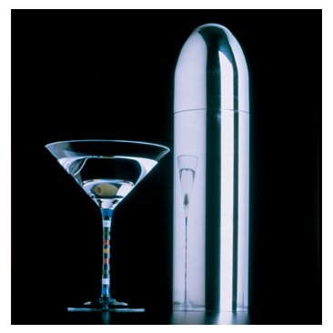 Metrokane Bullet Retro Cocktail Shaker - Polished Stainless Steel - 28 oz