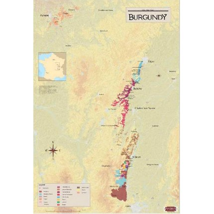 Burgundy Wine Regions Map