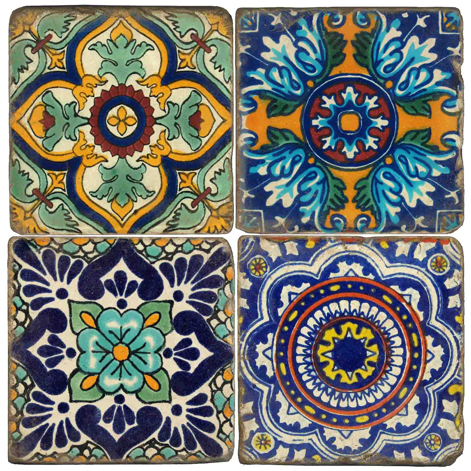 Talavera Italian Marble Coasters