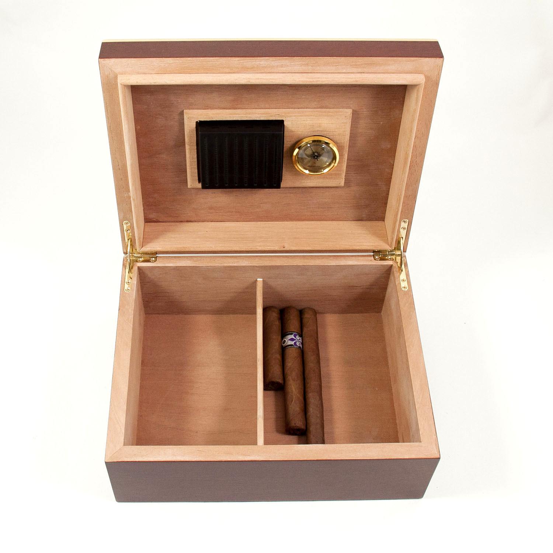 60 Cigar Burl Humidor