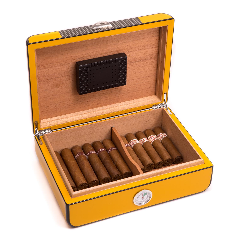 25 Cigar Carbon Fiber Humidor