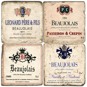 Beaujolais Wine Coasters