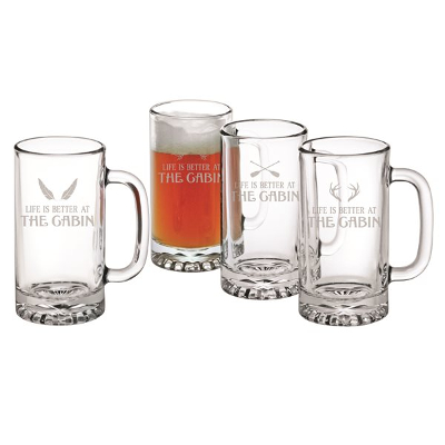 Life Is Better At The Cabin Beer Mugs (set of 4)
