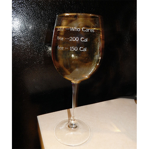 Who Cares Novelty Wine Glasses (set of 2)