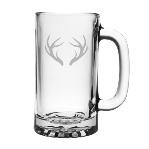 Caribou Antlers Glass Beer Mugs (set of 4)
