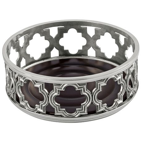 Cartouche Pewter Wine Bottle Coaster