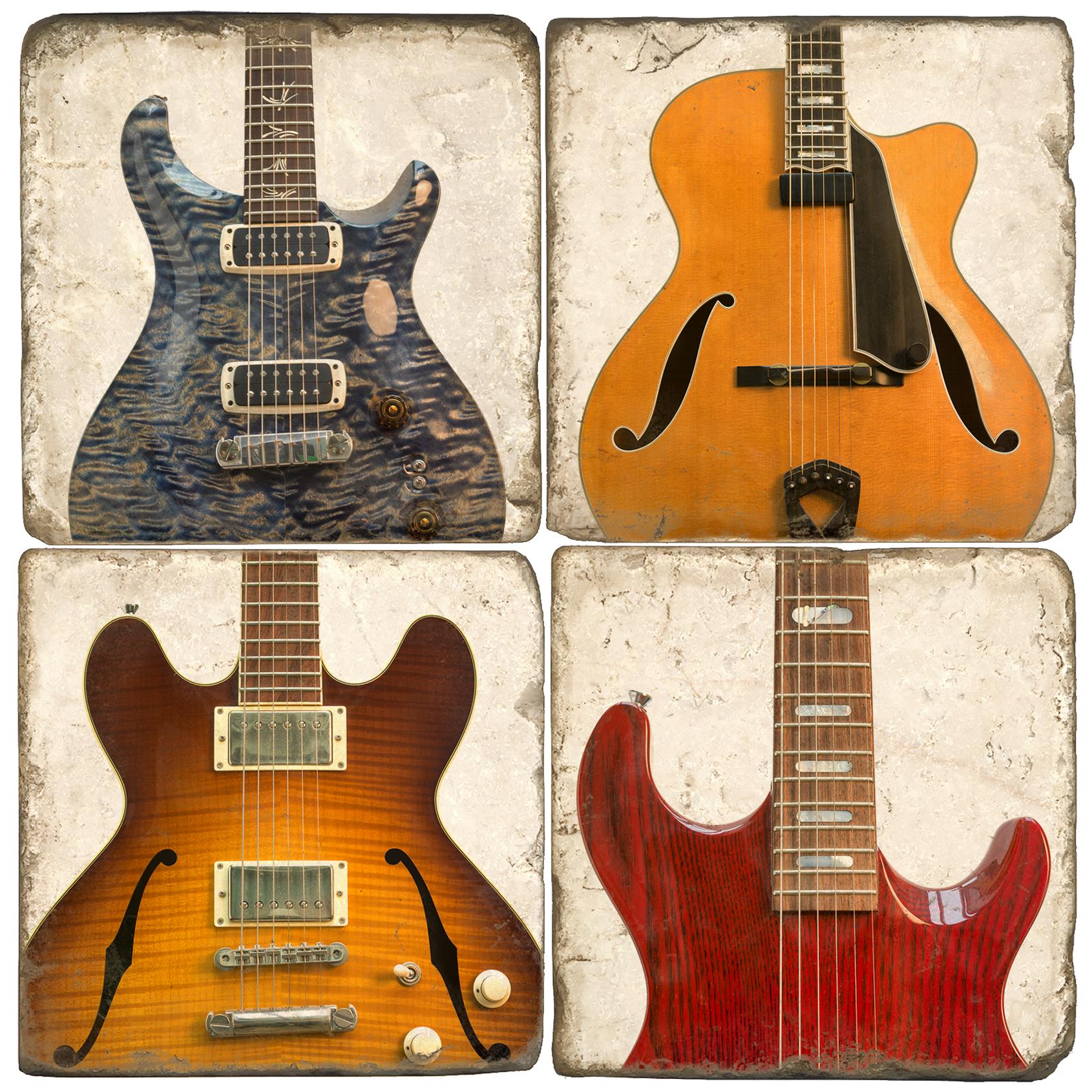 Guitars Italian Marble Coasters