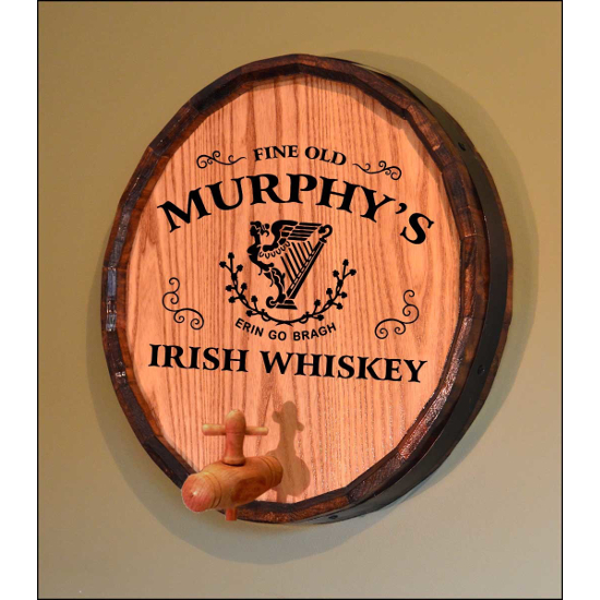 Personalized Celtic Harp Quarter Barrel Sign