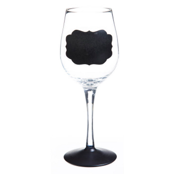 Chalk One Up Chalk Base Handpainted Wine Glass