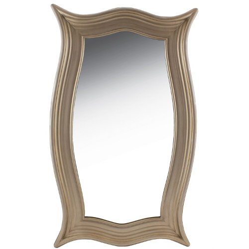 Champagne Carved Wood Mirror