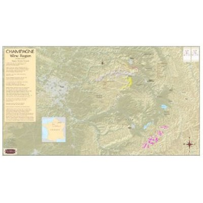Champagne Region Map, France