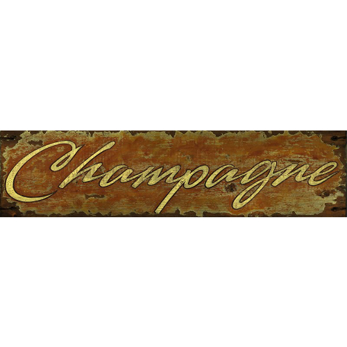 Personalized Champagne Wine Sign