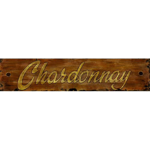 Personalized Chardonnay Wine Sign