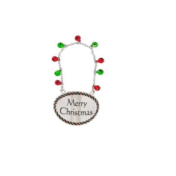 """Merry Christmas"" Holiday Bottle Tag"