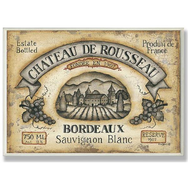 Chateau De Rousseau Sauvignon Blanc Wall Art