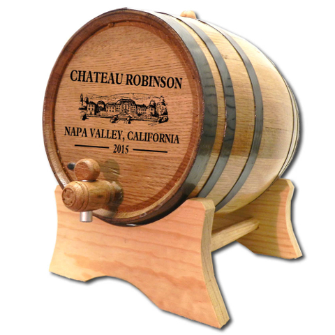 Personalized Chateau White Oak Aging Barrel