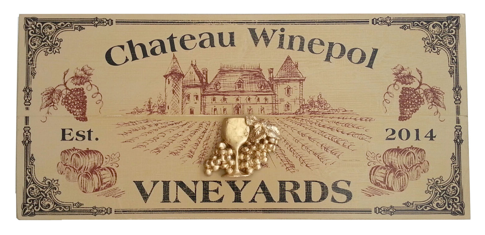 Chateau Vineyards Personalized Sign