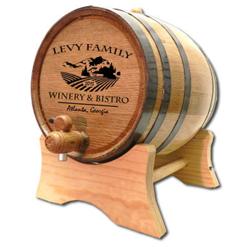 Personalized Chateau Winery Oak Barrel