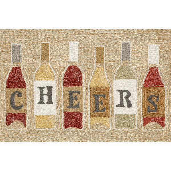 Wine Bottle Cheers Rug