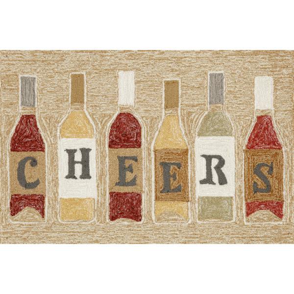 Wine Bottle Cheers Rug