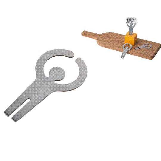 Card Holder Cheese Markers (set of 4)