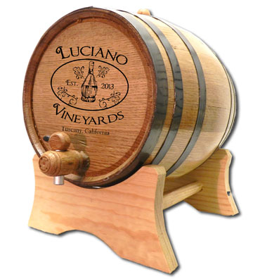 Personalized Oak Barrel Chianti Wine Cask