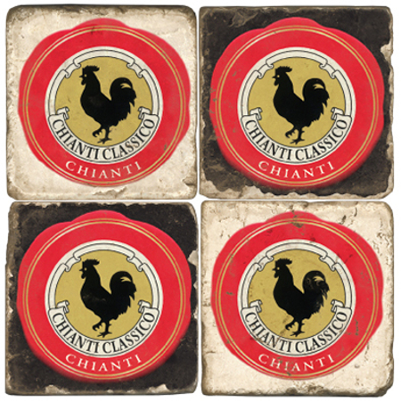 Chianti Italian Marble Coasters (set of 4)