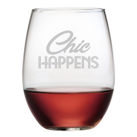 Chic Happens Stemless Wine Glasses (set of 4)