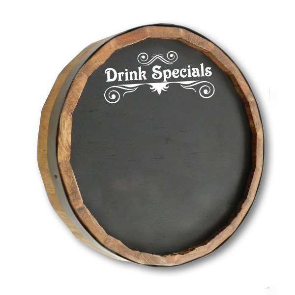 Drink Special Chalkboard Quarter Barrel Sign