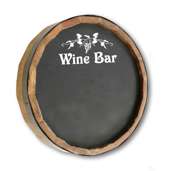 Wine Bar Chalkboard Quarter Barrel Sign