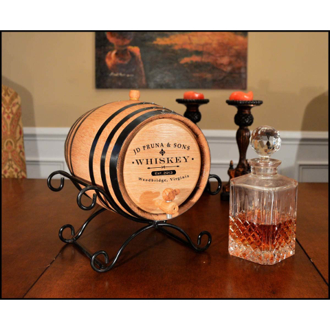 Personalized Classic Label Make Your Own Spirits Oak Aging Barrel