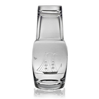 Clipper Ship Bedside Carafe and Glass 2-Piece Set