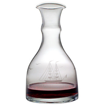 Clipper Ship Double Spouted Wine Carafe