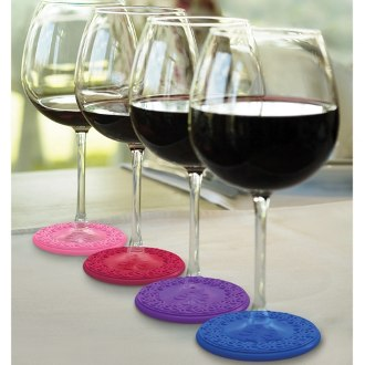 Sunset Drink Coasters and Wine Charms