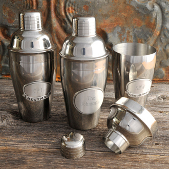 Mixologist Cocktail Shaker With Personalized Pewter Medallion