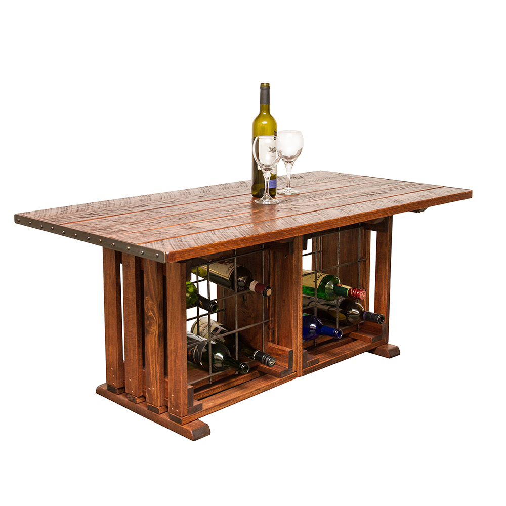 Coffee Table with Wine Racks
