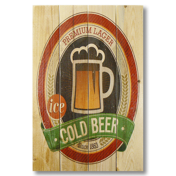 Cold Beer Gizaun Wall Art