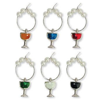 Colored Wine Glass My Glass Charms