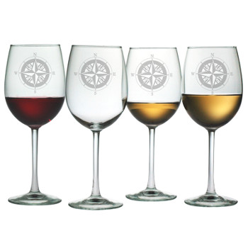 Compass All Purpose Wine Glasses (set of 4)