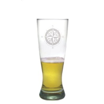 Compass Pilsner Beer Glasses (set of 4)