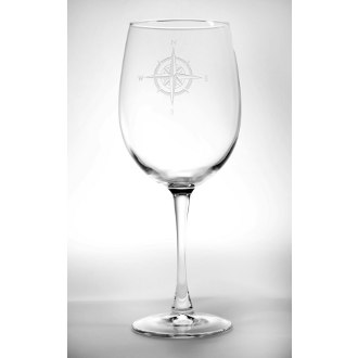 Compass Rose AP Large Wine Glasses
