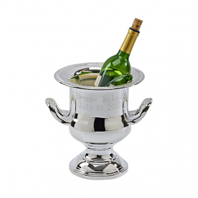 Personalized Silver Plated Gadroon Wine Cooler
