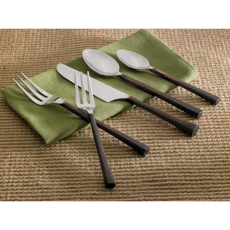 Copper Handle Five Piece Place Set
