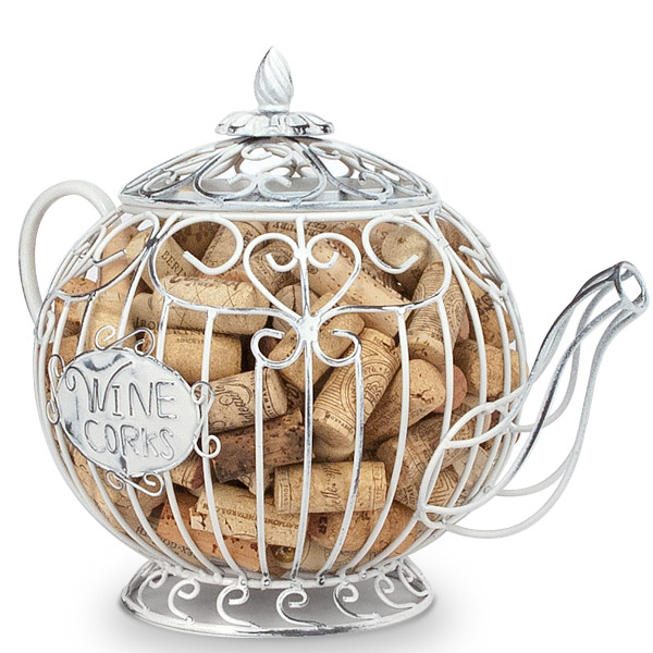 Teapot Wine Cork Cage