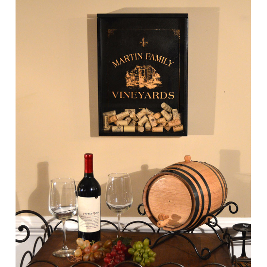 Personalized Vineyard Cork Catcher Wall Display