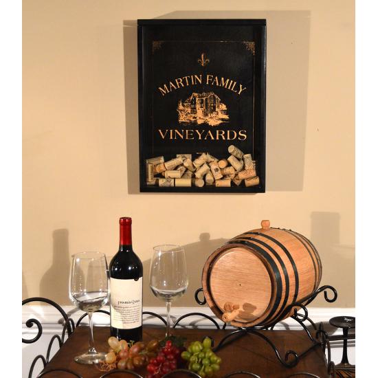 Personalized Vineyard Cork Catcher Wall Display