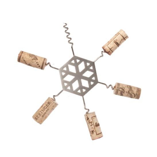 Stainless Steel Snowflake Cork Trivet