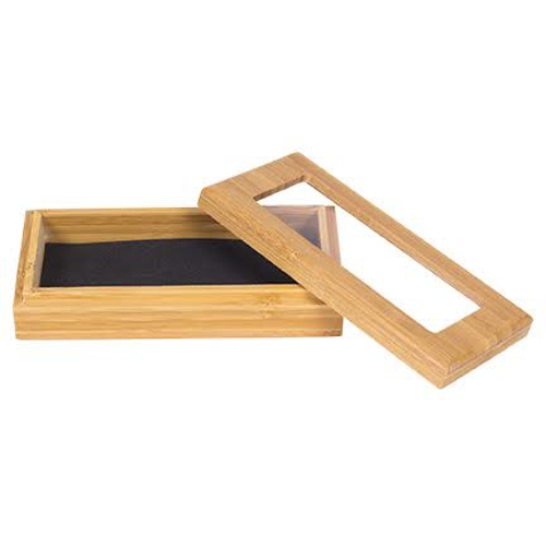 Waiter's Corkscrew Bamboo Gift Box with Window Lid, Personalized