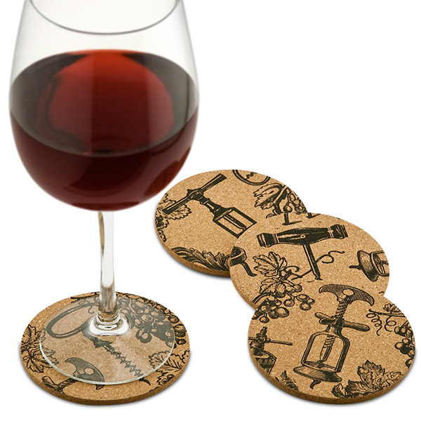 Antique Corkscrews Cork Coasters